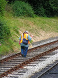Railway. Worker Royalty Free Stock Photography