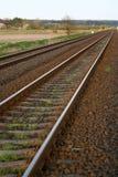 Railway 2. Long and old railway tracks Stock Photo