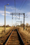 Railway. Track on sunny day Stock Images