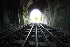 Railway. The light at end tunnel Stock Photos
