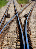 Railway. Junction in vertical,Thailand royalty free stock photos