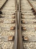 Railway. Pair, control center,two tracks - vertical royalty free stock images