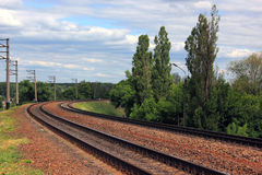The railway. Royalty Free Stock Photography