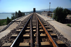 The railway Royalty Free Stock Photo