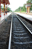 Railway. At  station in Huahin, Thailand Royalty Free Stock Photography