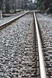 Railway. Rails of the railway track with antique effect Stock Images