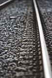 Railway. Rails of the railway track with antique effect Royalty Free Stock Photo