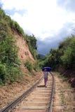 On the railway. Railway near Ella, Sri Lanka Royalty Free Stock Photo