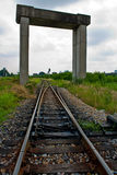 Railway. The old railway from bangkok to northern part of Thailand stock photography