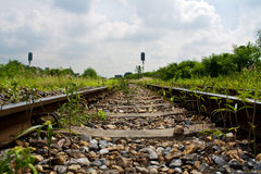 Railway. The old railway from bangkok to northern part of Thailand stock image