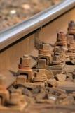 Railway. Close - up of train tarcks Stock Photography