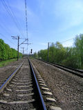 Railway. Picture of a railway perspective Stock Images
