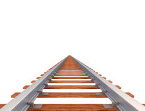 Railway. Empty railway track isolated on white Royalty Free Stock Photography