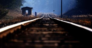 Railway from the above Royalty Free Stock Photography