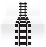 Railway. Abstract illustration of black railway Royalty Free Stock Images