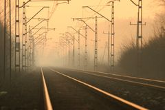 Railway abyss Royalty Free Stock Images