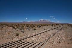 Railway Across the Altiplano Stock Photography