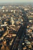 Railway aerial view. Railway in London, aerial view Stock Photo