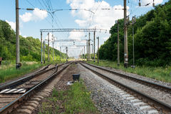 Railway against the sky Royalty Free Stock Images