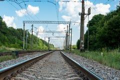 Railway against the sky Stock Photography