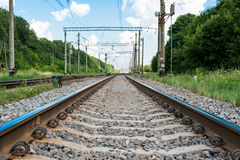 Railway against the sky Royalty Free Stock Photo
