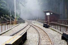 Railway on the Alishan mountain Royalty Free Stock Photography
