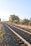 Railway along the field Royalty Free Stock Photography
