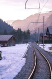 Railway in alps Stock Photos