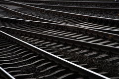 Railway Amsterdam. Railway line from central station amsterdam Stock Images