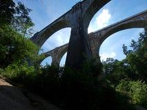 Railway aqueducts - Stanczyki. High aqueducts rail of the nineteenth century Royalty Free Stock Photo
