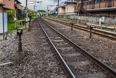 Railway in Arashiyama Stock Photo