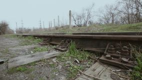Railway arrow stock video