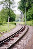 Railway in an austrian Landscape Royalty Free Stock Photography
