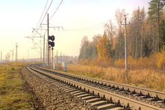 Free Railway. Autumn Landscape Royalty Free Stock Images - 46018199