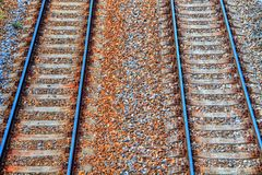 Railway background in HDR. Bright colors royalty free stock image