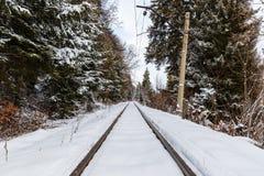 The railway between Bakuriani and Borjomi Stock Image