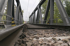 Railway ballast Royalty Free Stock Photo