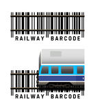 Railway barcode Royalty Free Stock Photos