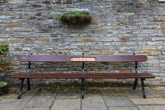 Railway Bench Stock Photo