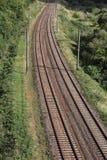Railway bend Stock Image