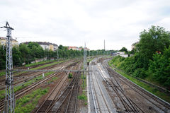 Railway in Berlin Royalty Free Stock Photos