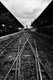 Railway in black and white tone Royalty Free Stock Photos