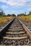 Railway and blue sky Stock Photos