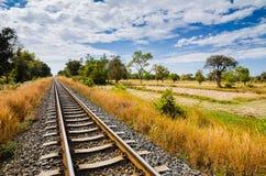 Railway and sky Stock Photo