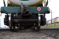 Railway. Bottom view Stock Photos