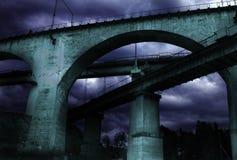The railway bridge Stock Images