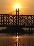 The Railway Bridge. Across the Sava River, Belgrade Royalty Free Stock Images