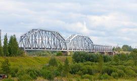 The railway bridge Royalty Free Stock Photo