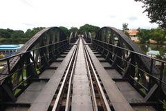 Railway bridge. Over river Kwai Stock Photography