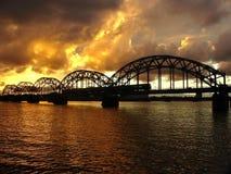 Railway bridge. Royalty Free Stock Photos